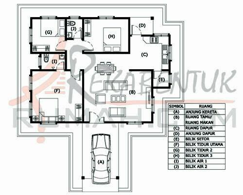 Design Rumah B1 11 3 Bilik 2 Air 40 Kaki X 46 1232 Gi