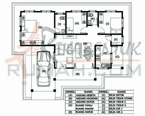 Design Rumah B1 12 3 Bilik 2 Air 45 Kaki X 34 1220 Gi
