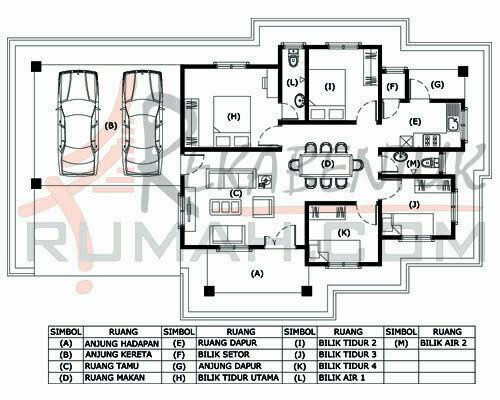 Design Rumah B1 27 4 Bilik 2 Air 57 X 33 1318 Kaki Gi