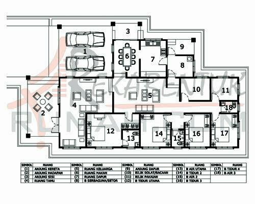 Design Rumah D1 16 6b 3ba 45 X77 2758 Kaki Gi