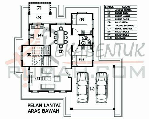 Design Rumah D2 03 6 Bilik 3 Air 43 X44 2156 Kaki Gi