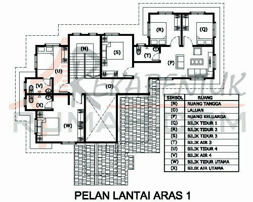Design Rumah D2 06 6 Bilik 5 Air 57 X49 2798 Kaki Gi