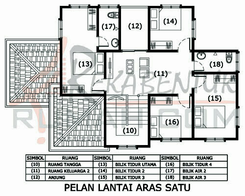 Design Rumah D2 12 4 Bilik 3 Air 31 X49 2164 Kaki Gi