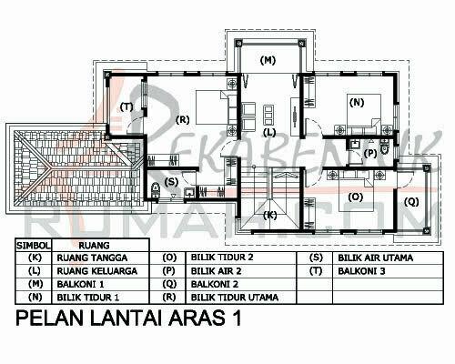 Design rumah d2 14 3 bilik 3 bilik air 30 39 x64 39 2295 for Plans d arkitek
