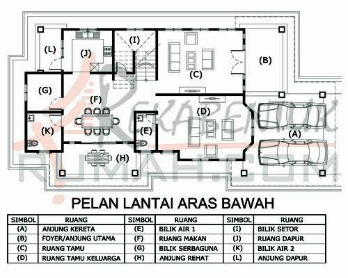 Design Rumah D2 24 5 Bilik Air 33 X67 2948 Kaki Gi
