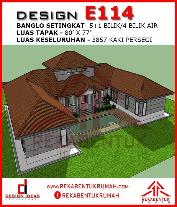 Design Rumah E1 14 6 Bilik 4
