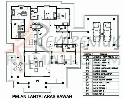 Design Rumah E2 02 5 Bilik 4 Air 79 X62 3652 Kaki Gi