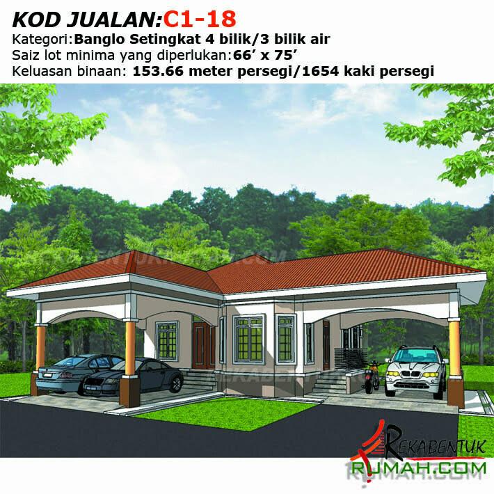 Design Rumah C1 18 4b 3ba 46