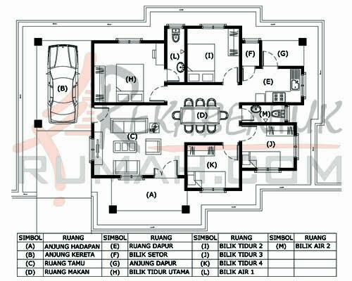 Design Rumah B1 06 4 Bilik 2 Air 48 X33 1163 Kaki Gi