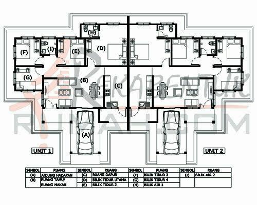 Rumah Semi D B1a 03 4b 2ba 80 X45 1238 Kaki Gi