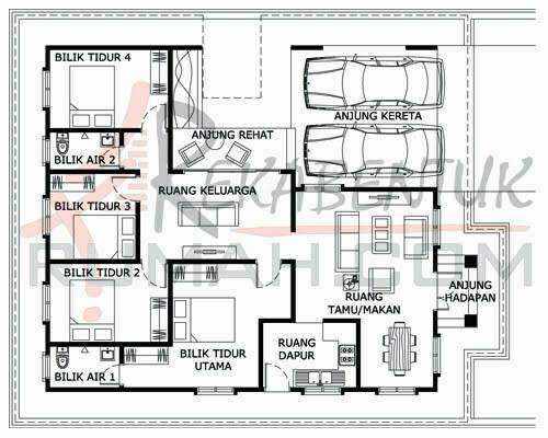 Design Rumah C1 24 4b 2ba 38 X47 1534 Kaki Gi