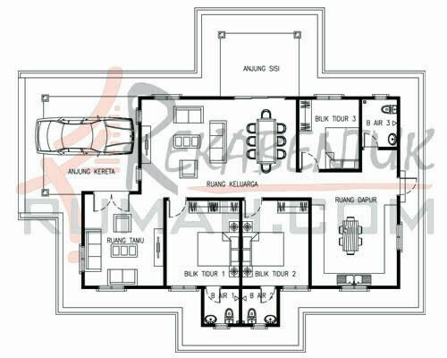 Design Rumah C1 30 3b 3ba 46 X56 1782 Kaki Gi