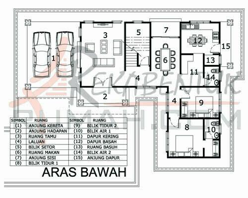 Design Rumah D2 26 5 Bilik Air 42 X63 2877 Kaki Gi