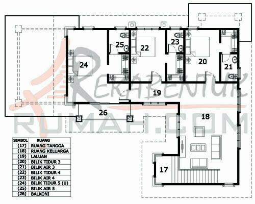 Design Rumah E2 09 5 Bilik Air 46 X60 3083 Kaki Gi