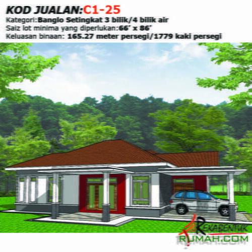 Design Rumah C1 25 3b 4ba 46 X56 1779 Kaki Gi