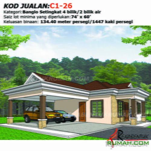 Design Rumah C1 26 4b 2ba 58 X33 1447 Kaki Gi