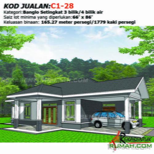 Design Rumah C1 28 3b 4ba 46 X56 1779 Kaki Gi