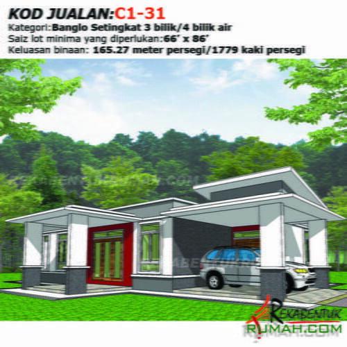 Design Rumah C1 31 3b 4ba 46 X56 1779 Kaki Gi