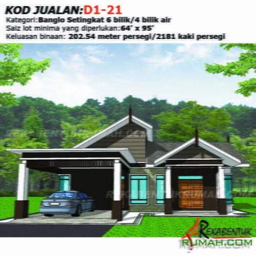 Design Rumah D1 21 6b 4ba 44 X65 2181 Kaki Gi