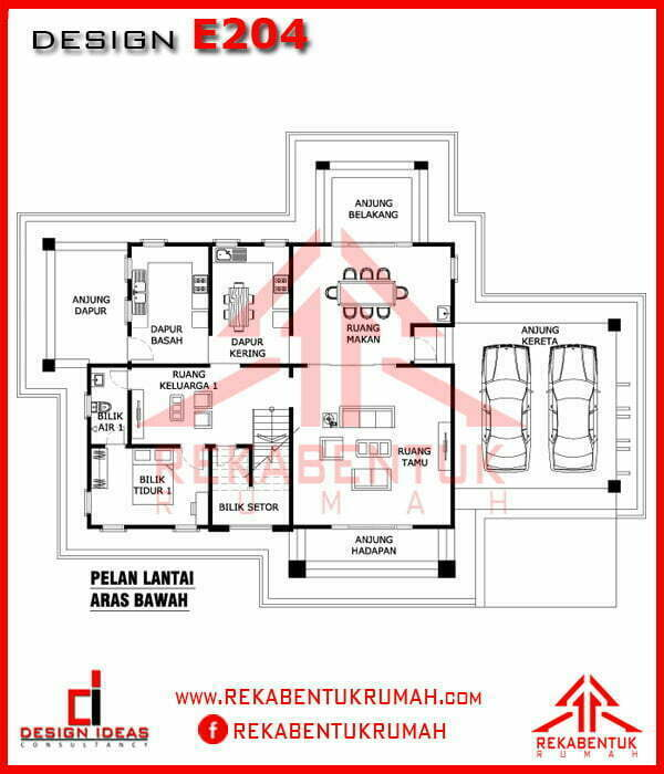 Plan Rumah 5 Bilik Tidur Desainrumahid Com